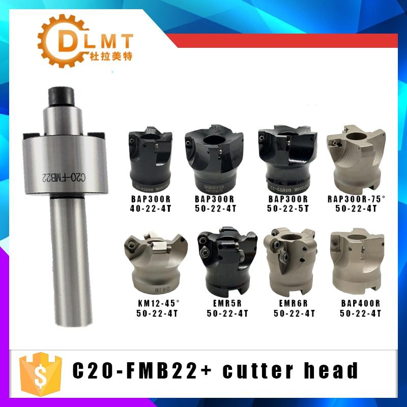 C12 FMB22 C16 FMB22 C20-FMB22  Shank BAP300R BAP400R RAP300R EMR5R EMR6R KM12 50 22 4T 5T Face Milling CNC Cutter