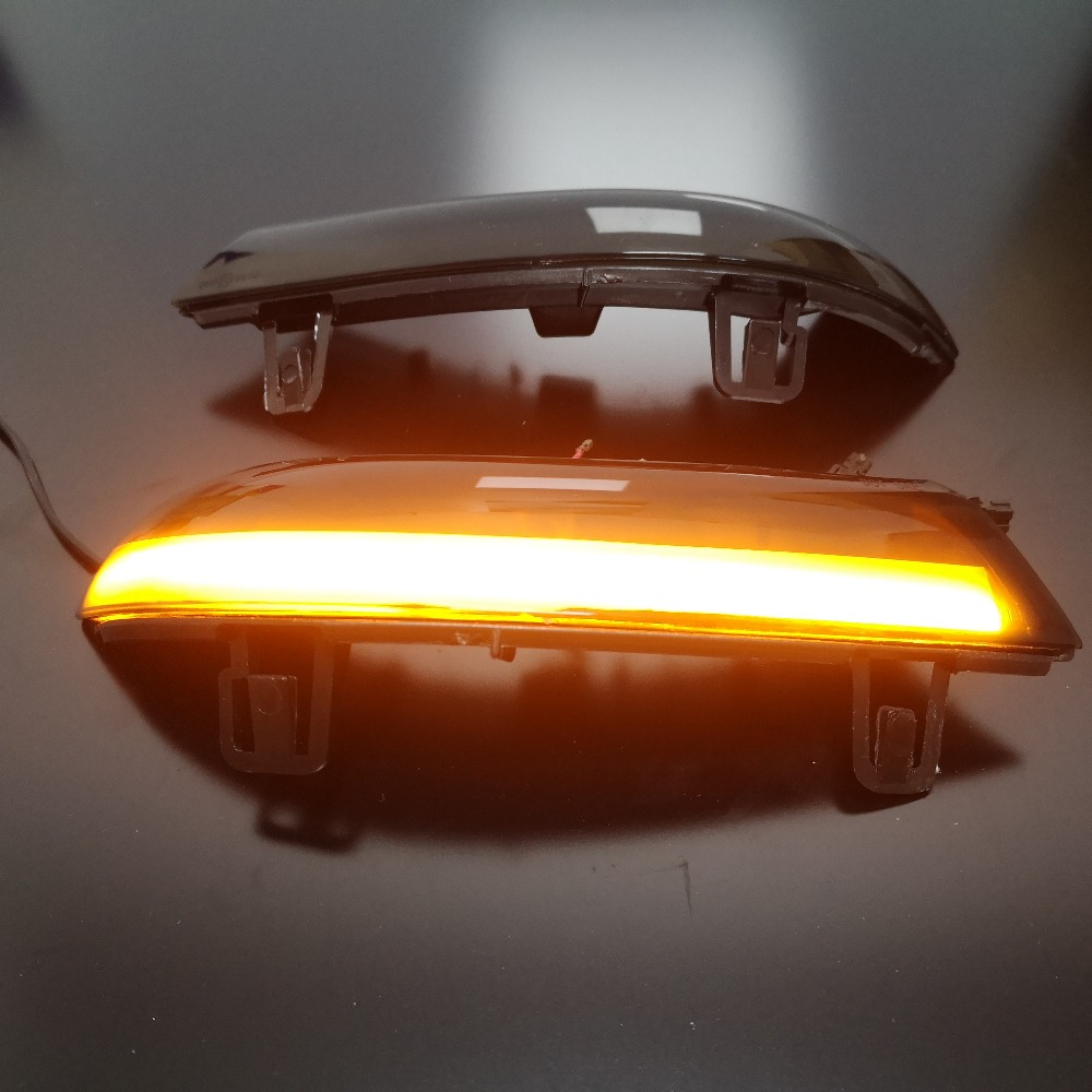 <font><b>LED</b></font> Dynamic Turn Signal Blinker Rear View Rearview Mirror Cover <font><b>Trim</b></font> Replace For Jetta MK5 <font><b>GOLF</b></font> 5 GTI R32 <font><b>GOLF</b></font> PLUS Passat B6 image