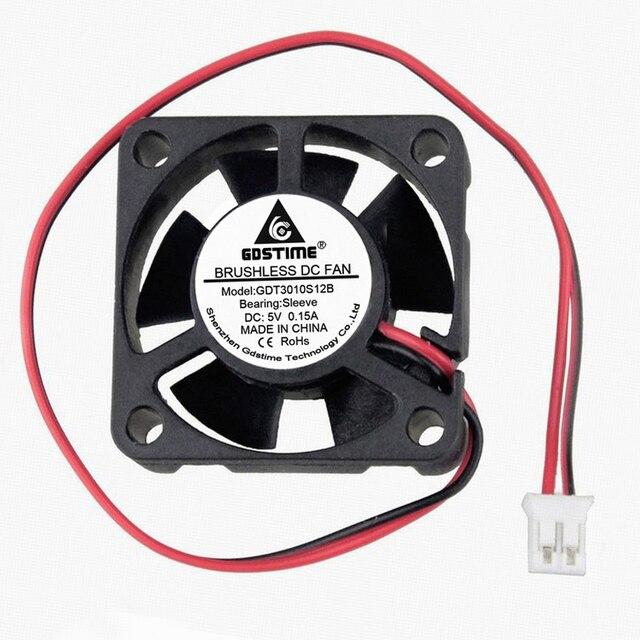 GDSTIME 5pcs DC 5V 30X30X10MM 30MM Brushless Fan Cooler 3cm Exhaust High Speed Cooling Heatsink Fan