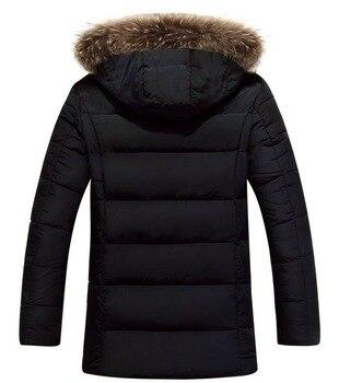 Parkas Hombre Coats Winter Warm Business Casual Fashion Windbreaker Overcoat Jackets Thick Windproof Men's Parkas Fit Brand
