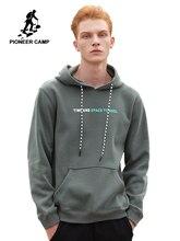 Pioneer Camp nouveau automne hiver polaire hommes sweats à capuche qualité 100% coton lettre imprimé noir gris rouge mode hommes sweats A