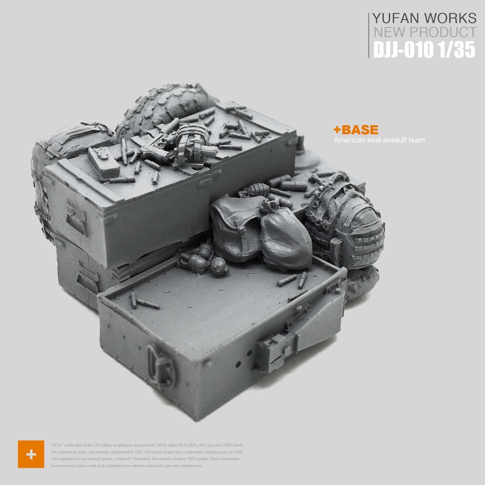 Yufan Model 1/35 Resin Platform Soldier Resin Scene Djj-10