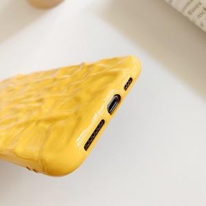 Image 5 - Iphone8case 용 소프트 폰 케이스 iphone 11Pro X 용 귀여운 실리콘 케이스 XR XS Max 7 6 iphone 11 케이스 용 커버 Pure color fold