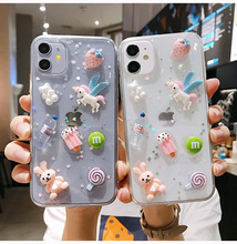 3D Cartoon Bear Figure Case for iPhone 11 12 Pro Max 12 Mini Cases IPhone XR XS X 7 8 6 Plus