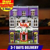 DHL IN Stock 10181 3329Pcs Movie City Street View Series Joker Park Model Building Blocks Bricks Birthday Toys Gifts Kids