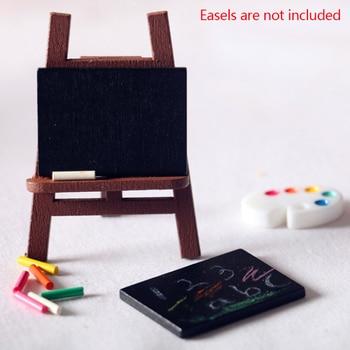 1 Set Small Blackboard Doll house Mini Blackboard Chalk Micro Landscape Decoration Toy Model DIY Children's Room Accessories 1