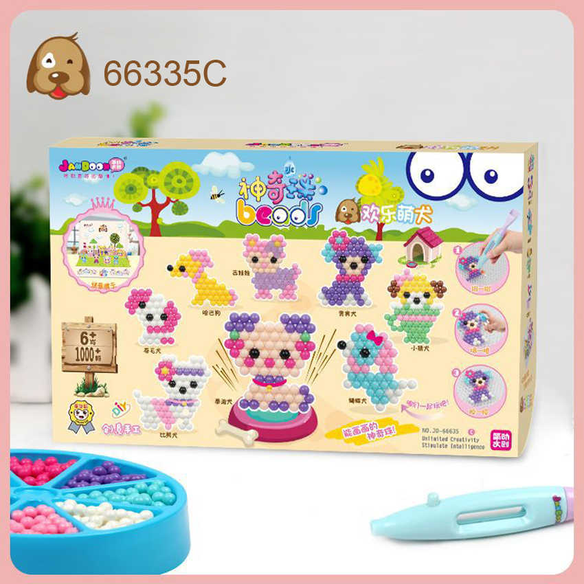 DOLLRYGA 1000 pz/set adesivi acqua perline jouet enfant magia di puzzle giocattoli knutselen kinderen aqua giocattoli per I Bambini I Bambini Del Mestiere