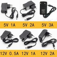 1 шт. 100-240 В AC в DC адаптер питания зарядное устройство адаптер 5 в 12 В 1A 2A 0.5A EU US UK AUPlug 5,5 мм x 2,5 мм 5v3adc штекер Micro USB