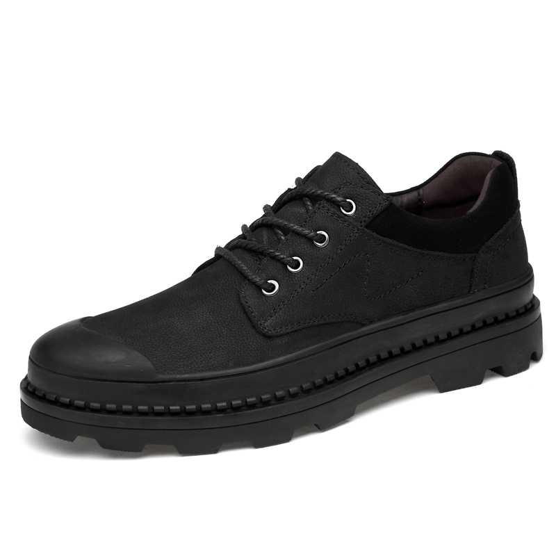 Size 37-47 Outdoor Boots Men Casual Leather Shoes Men Leather Shoes Work Safety Shoes Winter Waterproof Non-slip Boots *6610