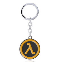 Game Half-Life Alyx Keychain For Men Car Metal Round HF Half Life Logo Key Ring Women Bag Pendant Jewelry llaveros para hombre(China)