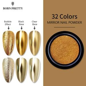 Nail Mirror Glitter Powder Metallic Color Bubble Nails Soap Foam Nail Art Chrome Flakes Pigment Dust Decorations 1 Box