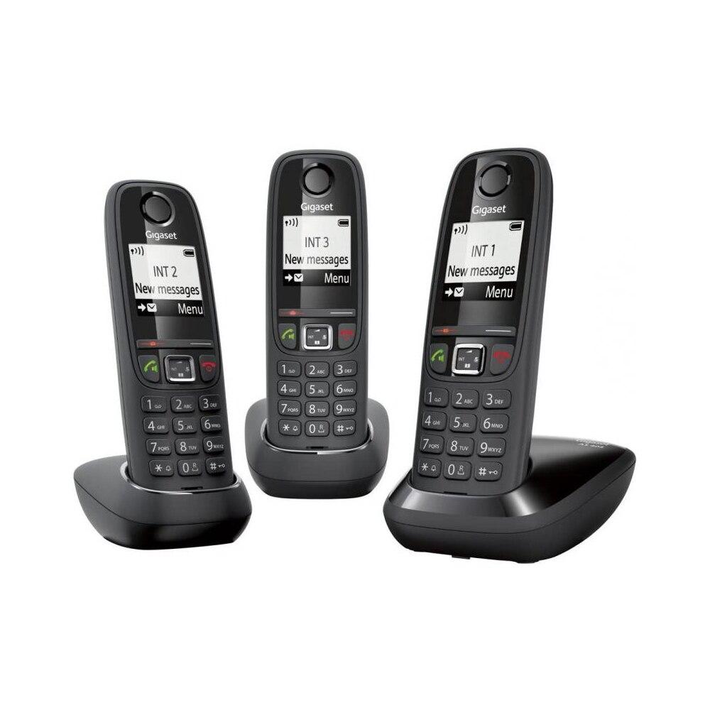 Гигасет Телефон DECT AS405 черный