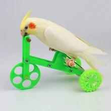 Funny Parrot Bike Toy Birds Training Plaything Supplies Educational Interactive Props for Parakeet Cockatiel Conure Lovebird
