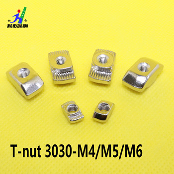 nut-M3/M4/M5*10*6 for 20Series Slot T-nut Sliding T Nut Hammer Drop In Nut Fasten Connector 3030 Aluminum Extrusion peng fa 35 steel t nut sleeve steel t type sliding nut milling working table fixing t bolts t slot nuts set t slots nut for t tr
