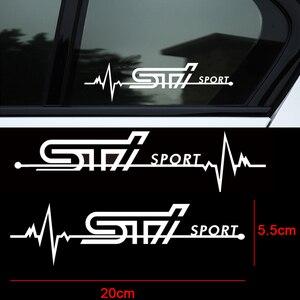 2 uds lado del coche pegatinas para ventanas emblema calcomanías para Subaru STI Legacy llave inserto de asiento de ajuste accesorios de decoración de coche-estilo