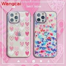 Clear Heart Case For OPPO Reno 5Z 5f 5 Lite 4F 4 Lite A93 2020 A94 A54 4G A54 A93 A74 5G Case Love Phone Soft Silicone Cover