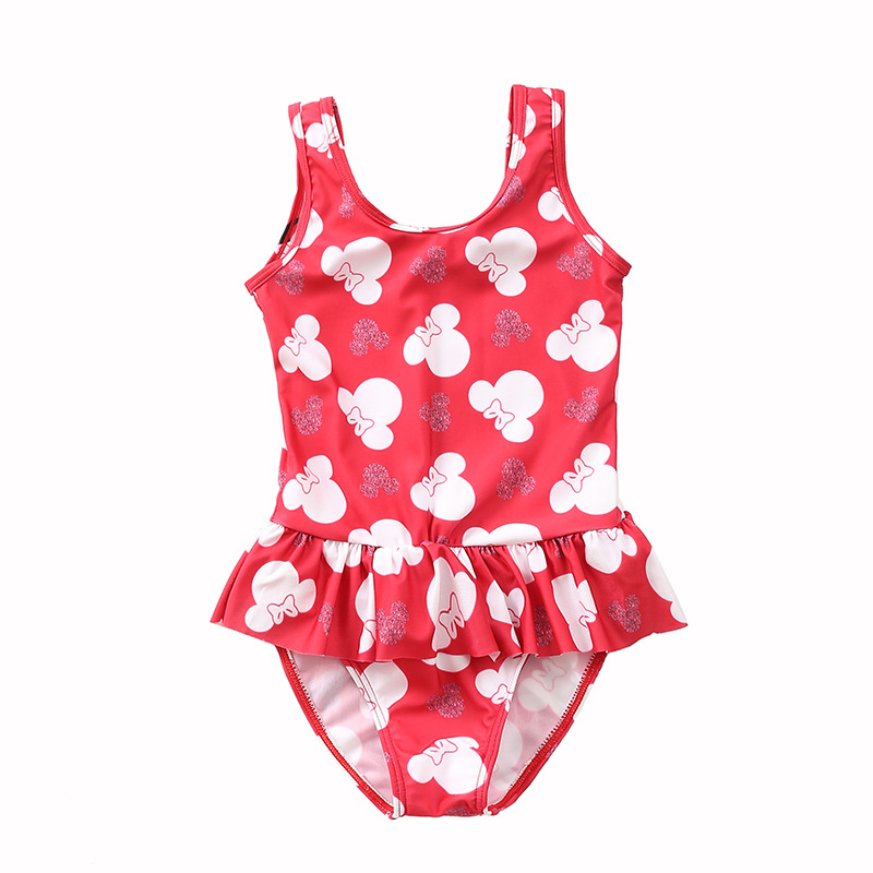2019 New Style KID'S Swimwear Girls Baby Babies' One-piece Swimsuit Cute Princess Swimming Pool Hot Springs Swimwear