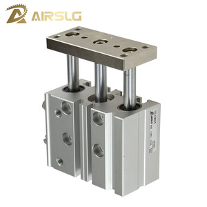 Compact Guide Cylinder bore size 12mm stroke 10-150mm Thin cylinder with rod Three axis three bar TCM12X50S TCL12X20S()