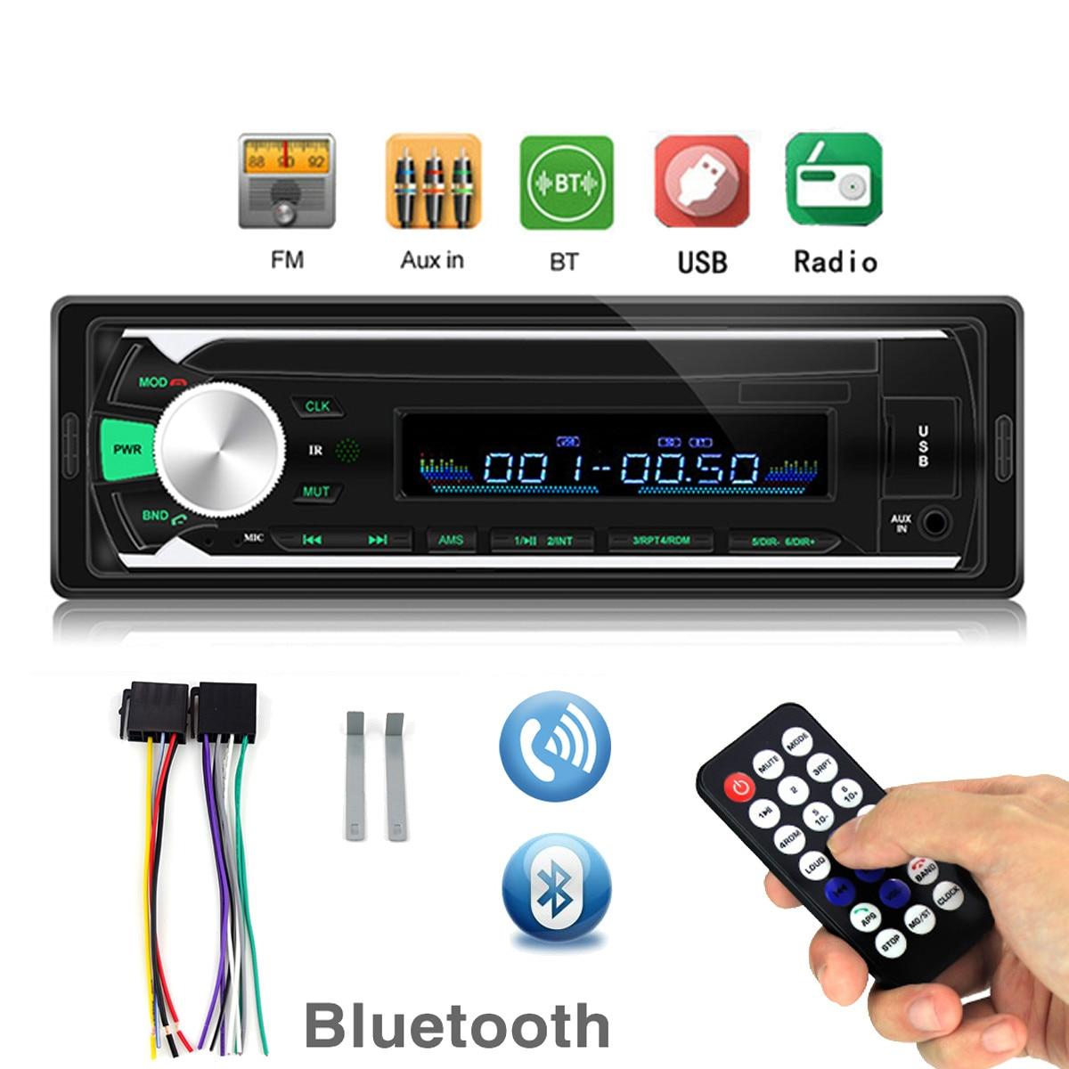 Автомагнитола 1 Din Bluetooth SD MP3 плеер Coche радио Estereo Poste Para Авто аудио стерео Carro Samochodowe Automotivo