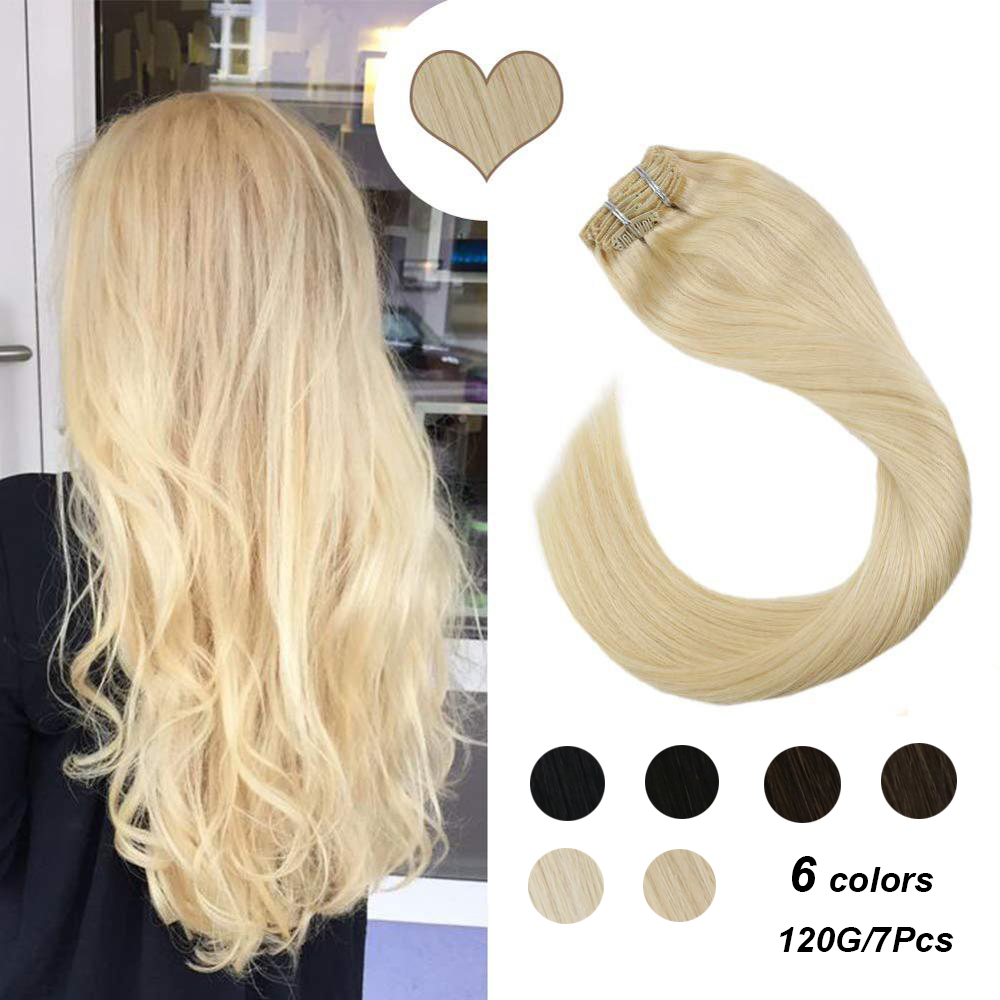 Ugeat Clip In Hair Extensions Human Hair 14-24