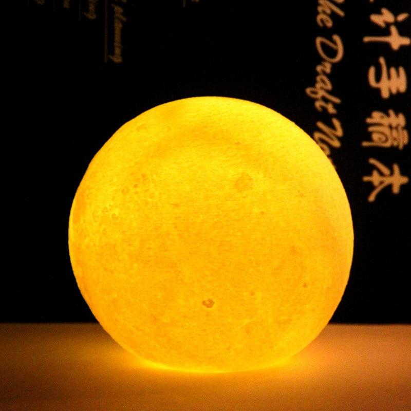 3D Moon Luminous Led Children's Night Light Lighting Toy Lamp Silicone Toy Children Cartoon Led Night Sky Night Lights