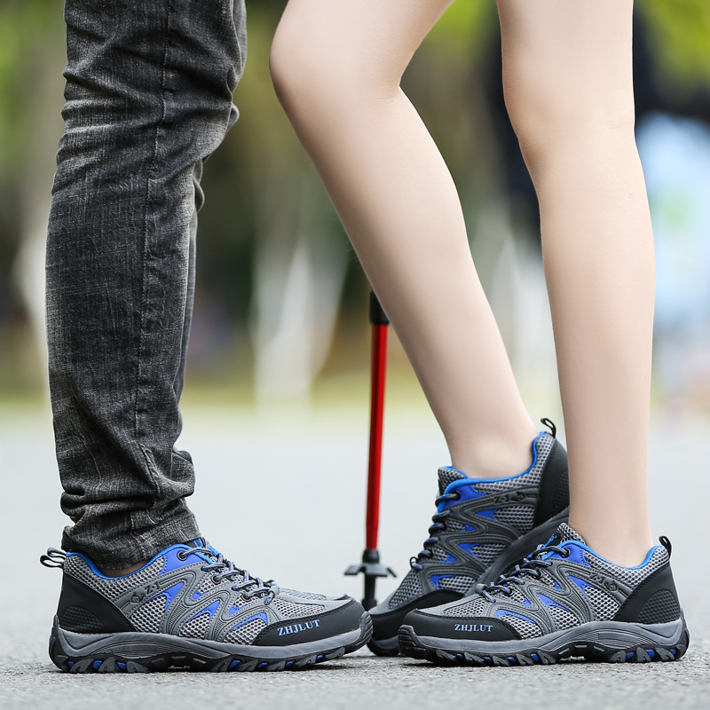 Image 5 - Men Mesh Casual Shoes Women Outdoor Sports Breathable Summer Wear Resisting Trekking Footwear Climbing light hiking Shoes ManMens Casual Shoes   -