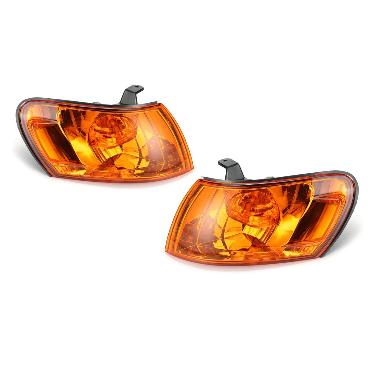 Pair Parking Corner Light Cover Amber Lens for <font><b>Toyota</b></font> <font><b>Corolla</b></font> AE100 <font><b>AE101</b></font> E100 1993 1994 1995 1996 1997 Signal Lamp Accessories image