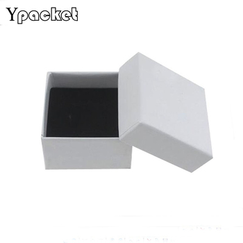 100Pcs/Lot Ring Earring Necklaces Packaging Square Solid Colors Cardboard Gift Boxes Storage Display Box For Jewelry 5*5*3cm