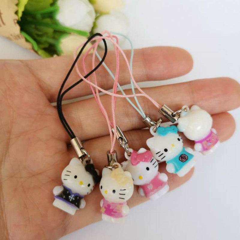 50pcs/lot Lovely Small Animal Toys Kawaii Cute Cats 2cm Kids Dolls Keychains Bag Purse Pendant Baby Toys Car Decoration