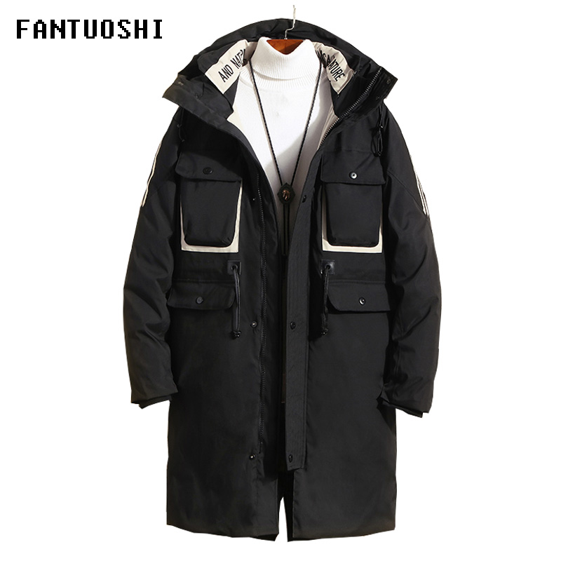 2019 Hot Sale Winter Warm Windproof Hood Men Jacket Warm Men Parkas High Quality Medium Long Parka Fashion Thick Casual Coat