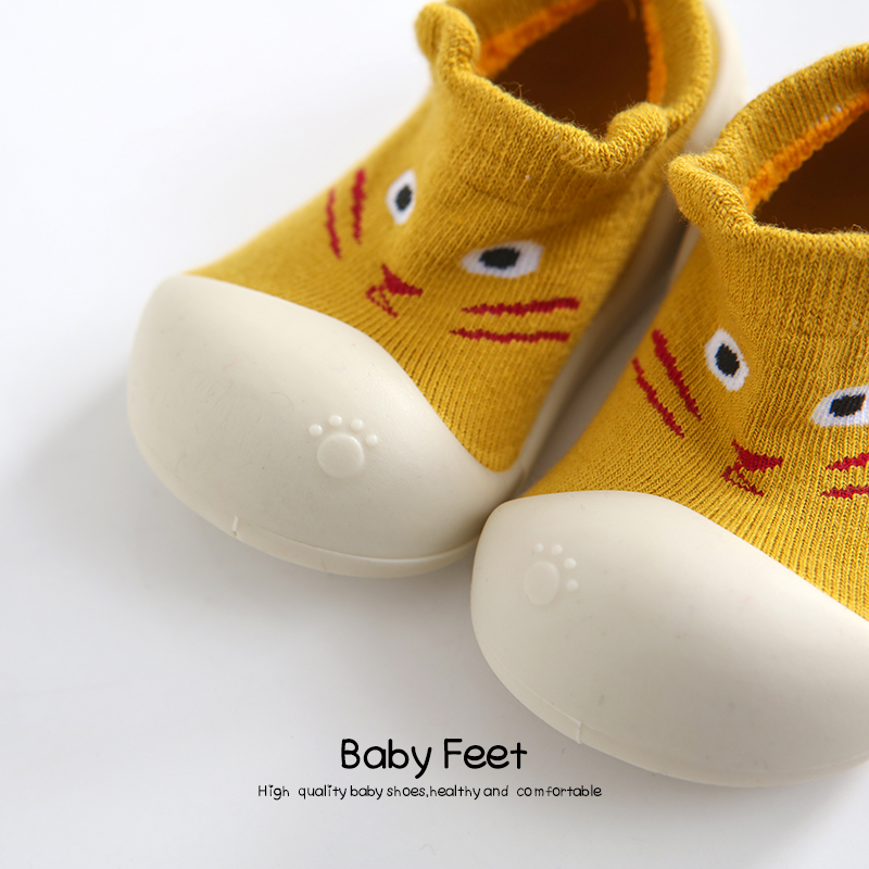 Baby sock Shoes Anti-slip Spring Cartoon animal Shoes Baby Girl baby boy Soft Rubber Sole shoes | Happy Baby Mama