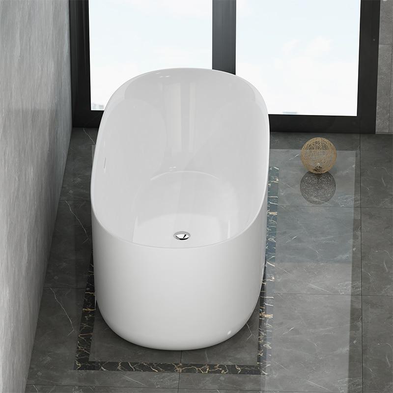 Aojin acrílico banheira família banheiro europeu simples 1500mm independente grande banheira-2