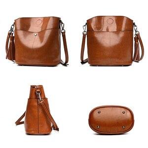 Image 4 - Yonder czarna torba crossbody kurierska damska torba z prawdziwej skóry kobieca torebka kubełkowa damska wysokiej jakości brązowe torebki