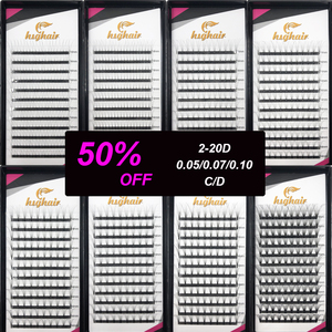 Lashes Premade Volume Fans 2d/3d/4d/5d/6d/7D/8D/10D/20D Lash Russian Volume Eyelash Extensions Pre made Lash Extension Faux Mink(China)