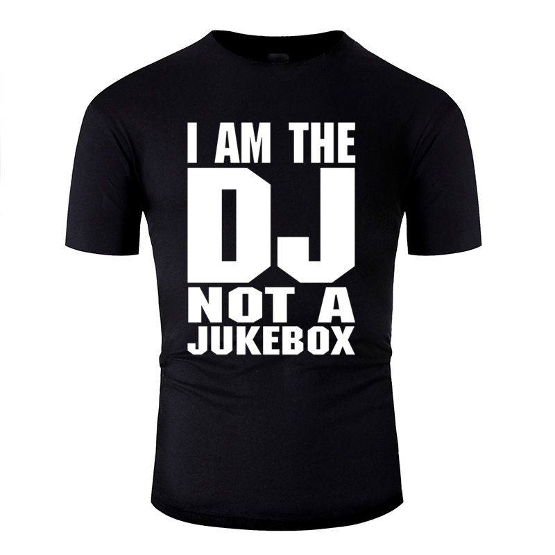 Comics Dj I Am The Dj Not A Jukebox White Tshirt 2020 Give Me A Jukebox With A Country Song Men And Women Tshirts Cotton image