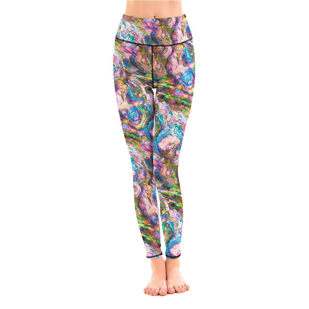 LOTUS Casual Fitness Elastic Force Sportswear Workout Outdoor Leggings Sporting Breathable Polyester Summer Autumn Leggings