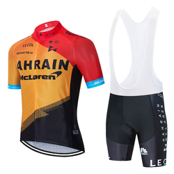 2020 команда Бахрейна Велоспорт Джерси 20D велосипедные шорты набор mtb Ropa мужские летние быстросохнущие pro велосипедные рубашки Maillot Culotte одежд...