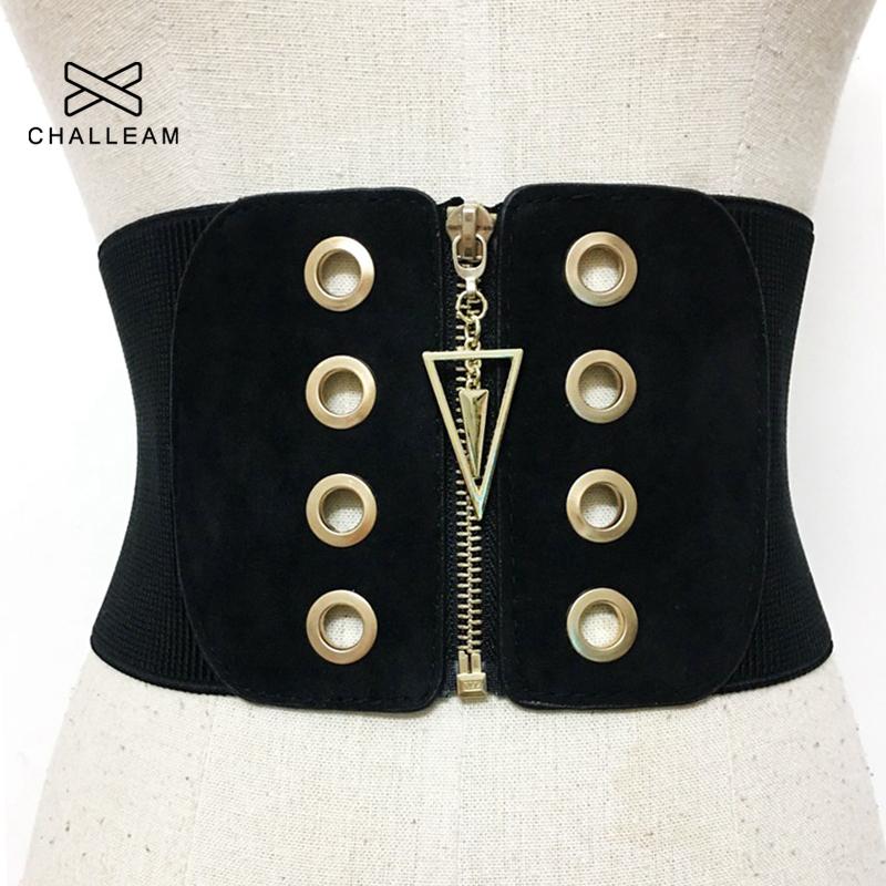 Women Ultra Wide Corset Belt Female Fashion Slim Black Elastic Body Style High Waist Dress Stretch Belts For Woman Waistband 101
