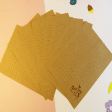 10Pcs/pack Kawaii Deer series Chinese Simple style kraft Writing Paper Letter gift Office Stationery