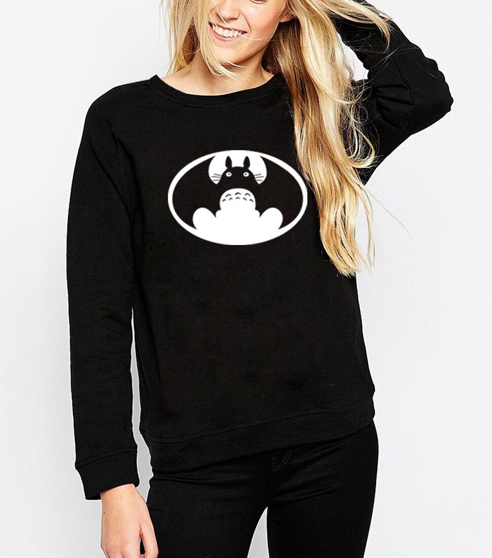 Totoro Chinchilla Hoodies Sweatshirts 2019 Women Kawaii Harajuku Fashion Punk For Girls Clothing European Tops Korean