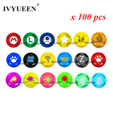 IVYUEEN 100 Pcs for NintendoSwitch NS JoyCon Controller Analog Thumb Grips Joystick Cap for Nintend Switch Lite Joy Con Joycons