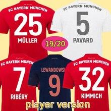 Версия игрока Bayerned Muniched third футбольные майки 19/20#9 LEWANDOWSKI#25 MULLER футбольные футболки 3rd футбол