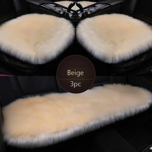 3 шт., Меховые чехлы для автомобильных сидений, из искусственного волокна, длинные плюшевые зимние теплые коврики для сидений, универсальные...