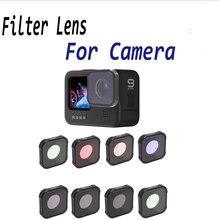 Camera Filter For GoPro Hero 9 Black CPL UV Star Night Neutral Density Filters For GoPro Hero9 Accessory ND 8 16 32 Lens Filter