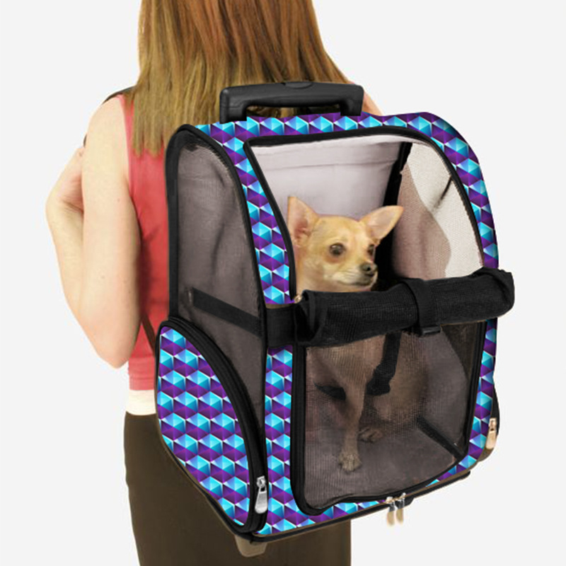 Portable Breathable Pet Backpack Out Portable Dog Cart Pet Trolley Bag