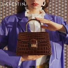 LA FESTIN Handbag 2020 new trendy crocodile pattern large-capacity shoulder messenger temperament hand carry  bag female