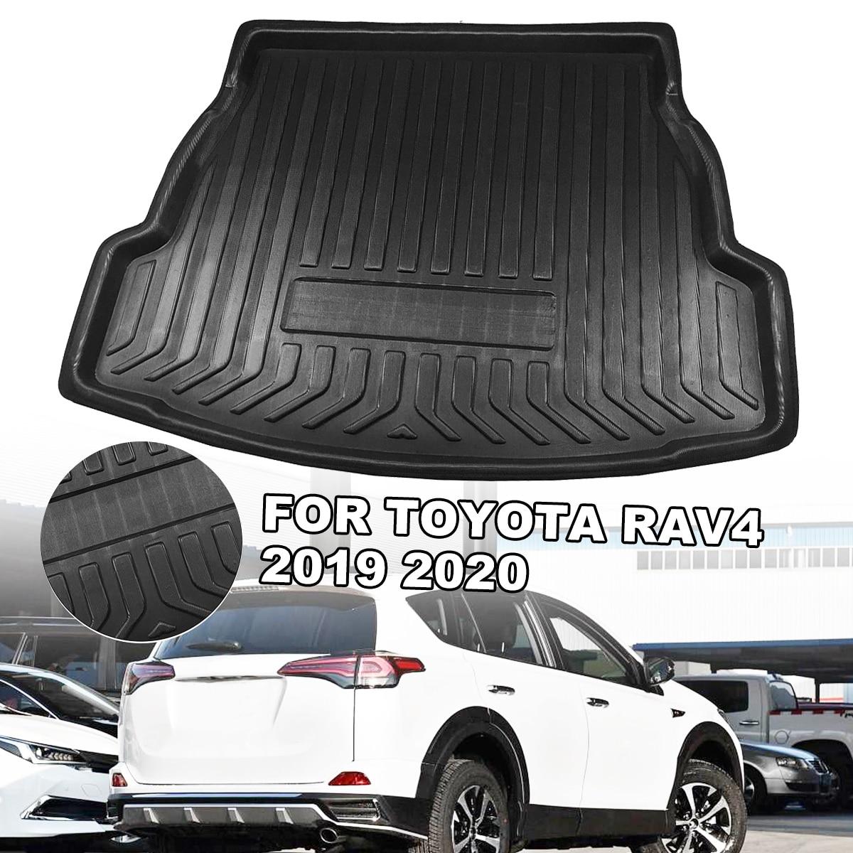 Car Interior Cargo Liner Boot Tray Rear Trunk Cover Matt Mat Floor Carpet Kick Pad For Toyota RAV4 2019 2020|  - title=