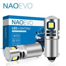 NAOEVO-Lámpara LED de marcha atrás para aparcamiento de coche, luz antiniebla trasera de coche, H21W, H6W, BA9S, BAY9S, ba29s, T4W, 12V, 24V, 6000K, H5W, 2835 SMD, color blanco
