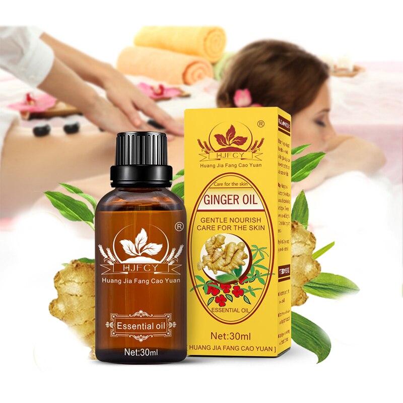 100% naturalne roślinna terapia drenaż limfatyczny olejek imbirowy naturalne Anti-Aging olejek eteryczny olejek do masażu ciała 30ml TSLM2