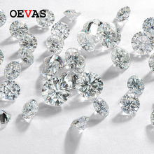 OEVAS Sparkling Real D Color 0.5 Carat 5mm Moissanite For Rings Earrings Pendant Bracelet Wholseale With Certificate DIY Jewelry